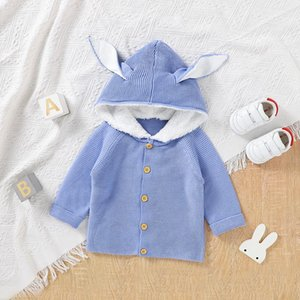Pullover Baby Sweater Knit Autumn Born Girls Boys Top Long Sleeve Outerwear Toddler Infant Clothing Fashion Ear Hooded Cardigan