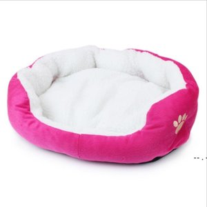 Pet House Yataklar Ev Sherpa Kalın Peluş Pet Den Büyük Orta Küçük Köpekler Kedi Comfy Sakinleştirici Kedi Yatak Yıkanabilir Peluş Pet Yatak Deniz BWC6673