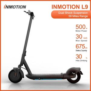 2021 최신 Inmotion L9 스마트 전기 스쿠터 패션 접는 스쿠터 30km / h 500w 모터 힘 10 인치 타이어 30 % 언덕 등반