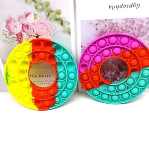 PUSH POP SILICONE SENSORY FIDGET TOY PUSH BUBBLE ANXIETY IT STRESS CIRCLE SHAPE BUBBLE TABLE GAME SQUEEZE TOYS G22203
