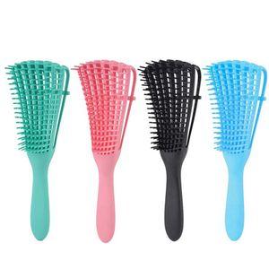 1 pcs Detangling Pincel para cabelos encaracolados de borracha antiderrapante de polvo pente de cabelo pente de couro cabeludo escovas de banheiro acessórios