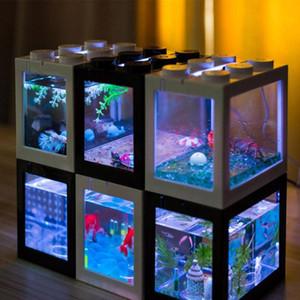 스태킹 생선 그릇 수족관 녹색 식물 마이크로 풍경 해 초 공 바탕 화면 사무실 물고기 그릇