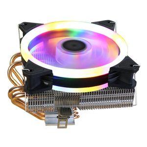 Fans & Coolings RGB LED Low-Profile 120mm CPU Cooler 4 Heatpipe Fan PC Cooling Radiator Heatsink For LGA 775 115X 1366 AMD X79 2011