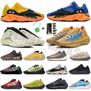 Kanye 700 Açık Spor Ayakkabı Bayan Erkek Statik Koşucu Eğitmenler Azareth Mavi Yulaf Azael Alien Lauvana Vanta Açık Havada Sneakers Hediyeler