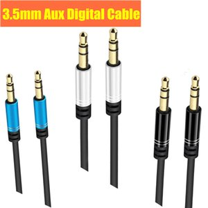 3.5mm AUX Audio Cable Jack Male to Male Car Stereo Digital Cable 1m 2m 3m Round Flat Braided Cables