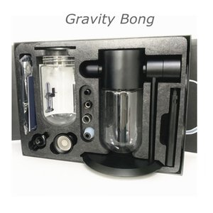 Stundenglass Gravity Bong Glass Gravity Hookah 360 Rotatable Activation heady water pipe packaged in a reusable craft box with a handle