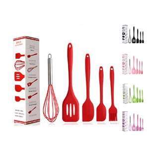 Cookware Sets Silicone Kitchenware Non-stick Cookware Silicone Cooking Tool Sets Egg Beater Spatula Oil Brush Kitchen Tools Ocean Shipping
