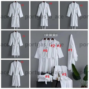 Vintage Letters Embroidered Bath Robe Womens Mens Lover Winter Autumn Dressing Gowns Comfortable Cotton Absorbent Bathrobe