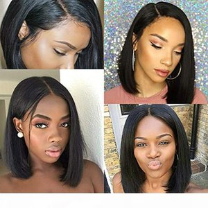 Bob Lace Front Wig Full Lace Human Hair Wig Brazilian Malaysian Remy Hair Natural Color Pre Plucked Hairline With Baby Hair 130%~150%