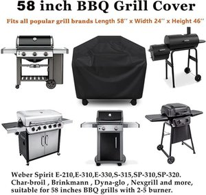 Tools & Accessories 2022 210d Bbq Cover Outdoor Dust Waterproof Heavy Duty Grill Rain Protective Barbecue Black *8
