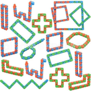 Hot Wacky Tracks Snap and Click Fidget Toys Snake Puzzles Tangle Fidget Toys for Kids Adults Party ADHD Stress Relief Keeps Fingers Busy