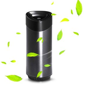 Air Purifiers Personal Purifier With True HEPA Filter,Mini Desktop Cleaner LED Light & Aroma Sponge For Car And Office