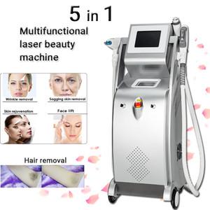 2021 LLLT متعددة الوظائف IP L إزالة الشعر بالليزر ND YAG إزالة آلة الوشم RF الوجه رفع elight opt shl ipl