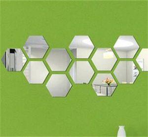 50 adet / takım 3D Ayna Duvar Sticker Hexagon Vinil Çıkarılabilir Duvar Sticker Çıkartması Ev Dekorasyonu Sanat DIY 147 V2