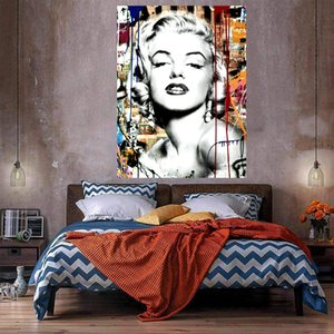Graffiti Art Mr Brainwash Banksy Pop Art Marilyn Monroe Luxury Home Decor Pittura a olio su tela Wall Art Canvas Picture 210224