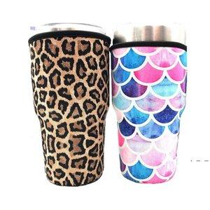 Кубок со льдом в рукавах в рукавах неопреновые изолированный рукава чашки для чашки для 30 унций 32 унция тумблерная бутылка для воды с держателем носителя для переноски. EWD5142