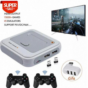 HD Output Super TV Video Game Console X For PS1 N64 DC 50+ Emulators 40000+ Games inside S905M Wired Wireless Gamepad #qf95