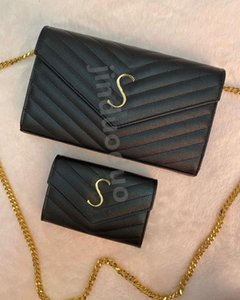 Top quality Genuine Leather Chain Women's Shoulder Bag tote Luxury Designer Crossbody Bags gold silver handbags Crocodile Wallet Handbag Purses caviar lambskin