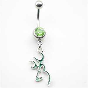 2021 D0067 ( 5 colors ) Button piercing rings jf-j020-5 10Pcs Lot Fashion Charm CZ Stone navel belly Dangle Piercing Jewelry