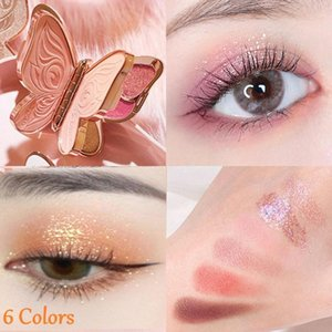 Eye Shadow 6 Colors Eyeshadow Palette Earth Shimmer Lasting Makeup Cosmetic Beauty Color Matte V6p4