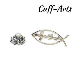 Pins, Brooches Lapel Pin For Men Icthus Religion Religious Jewelry Fish Broche De La Solapa Brooch By Cuffarts P10306
