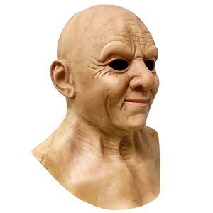 Un altro me-the anziano, maschera anziana realistica di lusso, maschera viso rughe, maschera a testa completa in lattice per la maschera decorazioni realistiche del partito di Halloween di Masquerade