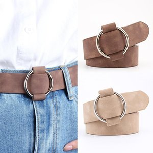 Creative Retro Style Needle-free Round Buckle Belt Women Casual Ladies Belt Jeans Wild Wide Female Waistband Strap