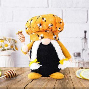 Arı Şef Cüce Bebek 14 * 8 * 19 cm Bal Arı Adam Kadın İskandinav Cüce Bebek Çocuk Oyuncakları Ev Çiftlik Evi Mutfak Dekor EWB5186