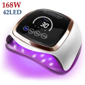 Nail Dryers Dryer For Regular Polish UV LED Lamp Manicure Machine Tools 168 90 72W Touch LCD Ice Gel Drying