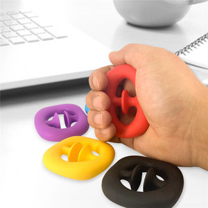 Fidget Stress Toys Hand Grip Ring With Suction Cup Pressure Relief Grip Ball Toys Adult Kid Autism Special Needs fidget toys Wholesale