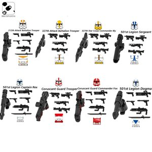 Star Space Action Wars Building Blocks Model Weapon Bricks Figures Accessories Army Part Kids Technic Toys Series Christmas Gift
