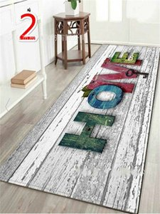"""WUJIE Fashion """"Home"""" Printed Wood Pattern Floor Rug for Living Room Washable Bedroom Mat Home Decor Kitchen Carpet Welcome Mat 748 K2"""
