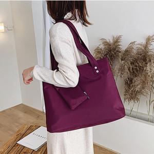 Oxford Large Capacity Long Shoulder Handbag Shopping Tote Bag Beach Top-handle Bags 2 Piece Set Women Designer Nylon Handbags