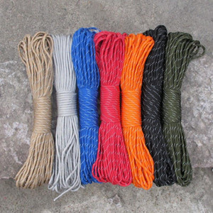31M Reflective Paracord 550 Parachute Cord Dia.4mm 9 stand Cores Lanyard 100FT Camping Outdoor tool