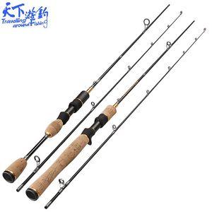 UL Spinning / Casting Fishing Rod Мягкий 1,8 м Ультра легкий углеродный рыболовный полюс Articulos de Pesca 0,8-5 г приманки Moulinet Canne Peche