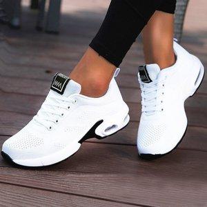 2021 Yeni Bayanlar Eğitmenler Rahat Örgü Kadınlar Düz Hafif Yumuşak Sneakers Nefes Ayakkabı Sepeti Ayakkabı Kadın Artı Boyutu Uayf