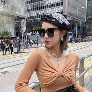Sunglasses 2021 Women's fragrance home fashion textured polarizers women's large frame shows thin street pography trend
