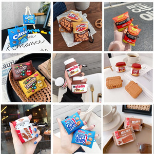 3D Funny Cute Chocolate Chip Cookies Wireless Earphone Case for Airpods 1 2 3 Pro Box Bluetooth Headset Silicone Luxury Cover