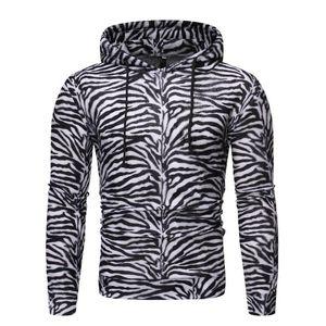 Mens Hoodies Sweatshirts Fashion 3D Zebra Striped Print Hoodie Men Women Streetwear Hip Hop Casual Hooded Pullovers Male