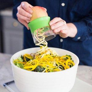 Handheld Carot Potato Concombre Spirale Coupe-râpe Végétières Fruits de légumes Slicer Salade Nouilles Spaghetti Zucchini Lame Spiralizer OWA4110