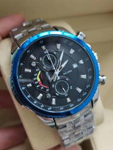 Top Tutti i quadranti Guarnizione di cronometro Uomo Guarda gli orologi di lusso con cinturino in pelle calendario Casi Brand Al quarzo orologio da polso per uomo di alta qualità