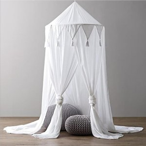 Baby-Chambre Mosquito Net Canopy Couverture Chambre Salle Fée Rideau Literie Dôme Tente Tente Décor Canopy Cleoper Bed Tente Sea Navire OWB5085