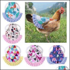 Other Supplies Home & Garden100Pcs Lot Pet Chicken Vest Hen Clothes With Elastic Band Mix Colors Pets Products Factory Wholesale Drop Delive