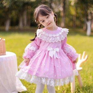 Miayii Baby Kleidung Spanische Lolita Prinzessin Ballkleid Spitze Bogen Nähen Süßes Nettes Kleid Für Mädchen Geburtstag Party Ostern Y3779