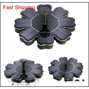 Solar Panel Powered Brushless Water Pump Yard Garden Decor Pool Outdoor Games Round Petal Floating Fountain Water Pu qylROl homes2011