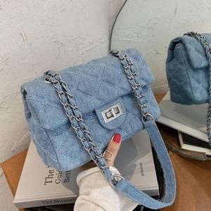 2021 Fashion chain Shoulder Bag Women denim Quilted Bag Female Luxury Handbags Women Bags Designer Sac A Main Femme