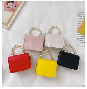Children's Fashion Cute Square PU Bag Shoulder Messenger Pearl Portable Travel Exquisite Princess Bag