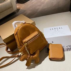 2021 Luxurys Designers Backpacks Style with Wallet Fashion Woman Letter Lady Composite Bag Schoolbag Unisex Mini Satchels Bags