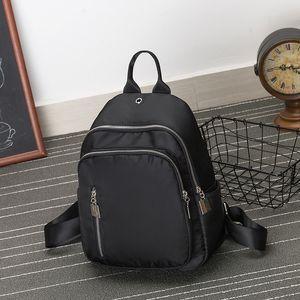 HBP The New 2021 Package Women Style School Bags For Teenage Girls Leisure Ladies Soft Satchel Unisex Canvas black backpacks