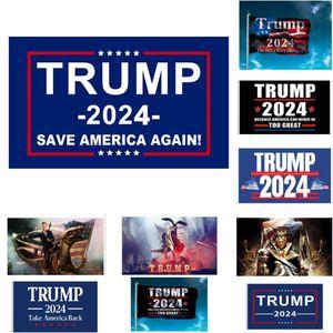 دونالد ترامب أعلام 2024 إعادة انتخاب ترامب 2024 توفير أمريكا مرة أخرى مع النحاس في الهواء الطلق الديكور الداخلي راية 3x5 قدم HH21-73